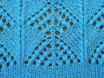 Blue knitting Stock Images