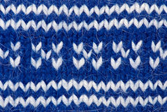 Blue knitting background Royalty Free Stock Photography