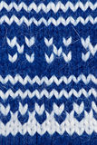 Blue knitting background Royalty Free Stock Photos