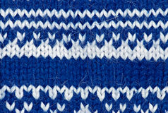 Blue knitting background Royalty Free Stock Image