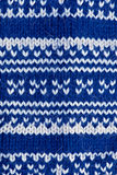 Blue knitting background Royalty Free Stock Images