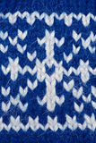 Blue knitting background Stock Photography