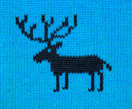 Blue knitting ornament Royalty Free Stock Photos