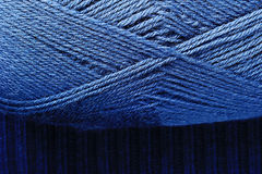 Blue Knitting Threads Skein Stock Image