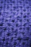 Blue knitting wool texture Royalty Free Stock Photography