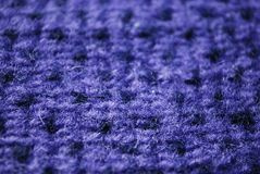 Blue knitting wool texture Royalty Free Stock Image