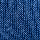Blue knitting wool texture background. Close up Stock Image