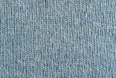 Blue knitting woolen texture for background Stock Images