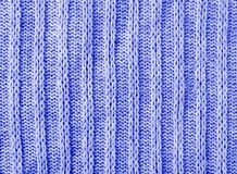 Blue knitwear texture background. Blue knitwear sweater wool texture background macro closeup Royalty Free Stock Photos