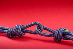 Blue knot Stock Photo