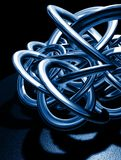 Blue knot Royalty Free Stock Image
