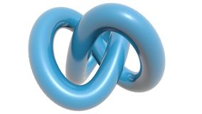 Blue knot. A blue knot on black background Stock Images