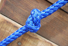 Blue knot close up Royalty Free Stock Photo