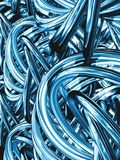 Blue knots Stock Images