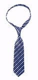 Blue knotted tie Stock Images