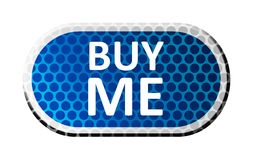 Blue label buy me Royalty Free Stock Photo