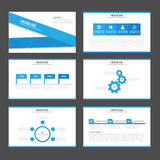 Blue label Infographic elements icon presentation template flat design set for advertising marketing brochure flyer Royalty Free Stock Photos