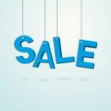 Blue label sale Stock Image