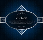 Blue Label Template. Vector Stock Images