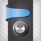 Blue label with volume knob on a column Royalty Free Stock Photography
