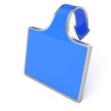 Blue label Royalty Free Stock Photos