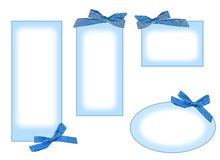 Blue labels. Some blue labels with ribbon. It is useful also for scrapbook Royalty Free Stock Photo
