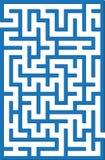 Blue labyrinth Royalty Free Stock Image