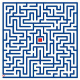 Blue labyrinth Royalty Free Stock Photography