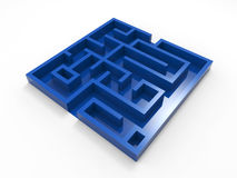 Blue labyrinth Royalty Free Stock Image