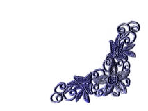Blue lace stock photos
