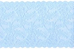 Blue lace. On white background Royalty Free Stock Photos