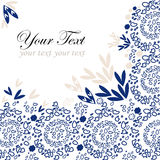 Blue lace background with a place for text Royalty Free Stock Photo