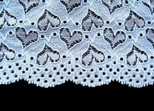 Blue lace  on black background Stock Photo