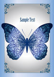Blue lace butterfly Stock Photography