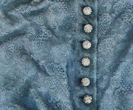 Blue Lace and Diamond Buttons Royalty Free Stock Photos