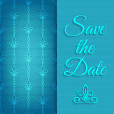 Blue lace save the date Stock Images