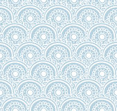 Blue lace seamless  pattern. Vector illustration. Background with floral waves. Stock Photo