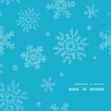 Blue lace snowflakes textile frame corner pattern Royalty Free Stock Photo