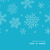 Blue lace snowflakes textile vertical frame Royalty Free Stock Images