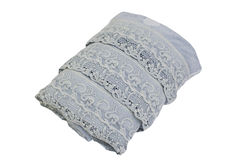 Blue lace towel Royalty Free Stock Images