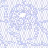 Blue lace vector fabric seamless  pattern Stock Photos