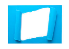 Blue lacerated paper Royalty Free Stock Images