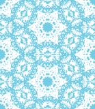 Blue lacy floral pattern. Vector seamless pattern Royalty Free Stock Photography