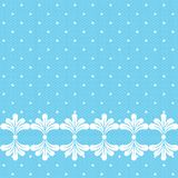 Blue lacy polka dot background Royalty Free Stock Photography