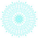 Blue lacy snowflake. Vector illustration. Lacy snowflake. Vector illustration. Lacy napkin. Winter illustration. Christmas. White background Stock Photo