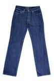 Blue ladies jeans stock image