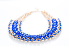 Blue Ladies necklace Royalty Free Stock Images