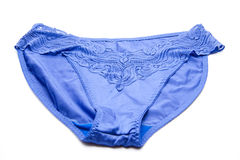 Blue ladies underpants Stock Photography