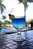 Blue Lagoon Cocktail On Outdoor Patio Stock Photography