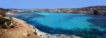 The blue lagoon. Gozo stock photography